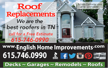Roof Replacements Nashville TN
